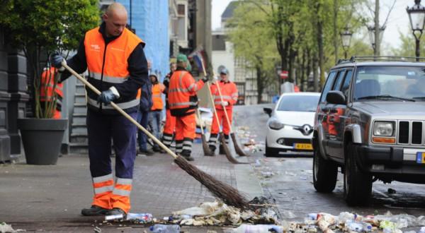 Amsterdam ruimt op na Koningsdag